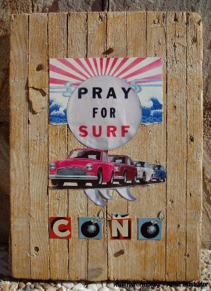 pray for surf-kathryn hockey artist illustrator