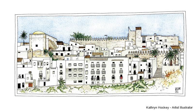 The-Castle-of-Vejer-kathryn-hockey-artist-illustrator-web