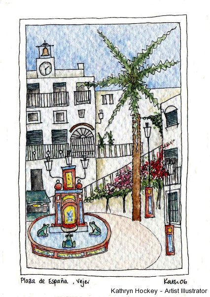 vejer-la-plaza-kathryn hockey artist illustrator
