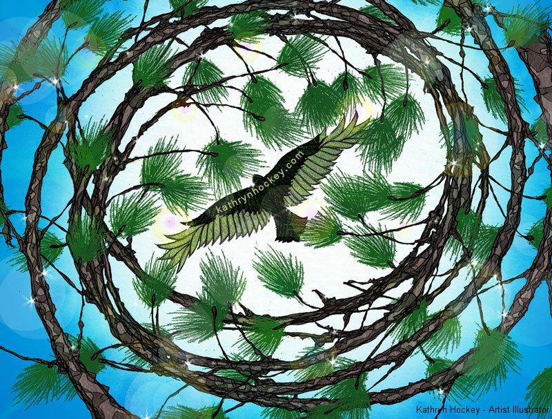 spiralling-branches-the-black-dawg-kathryn-hockey-artist-illustrator-web