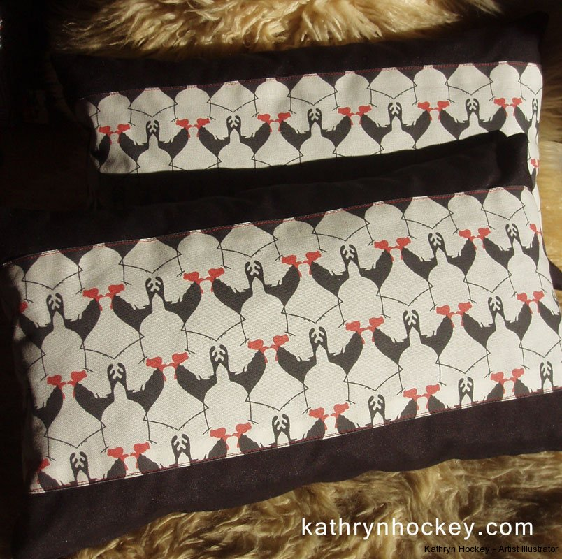 Cockerel-cushions-3-kathryn-hockey-artist-illustrator-web