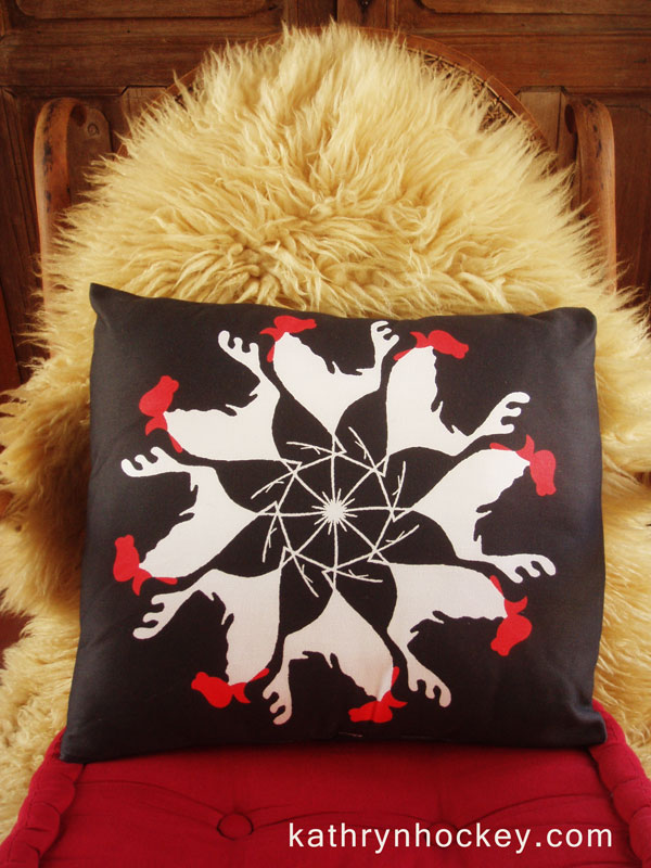 cockerel-cushion-env-kathryn-hockey-artist-illustrator-web