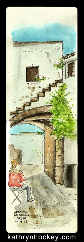 Arco-de-la-Segur-19.9.15-kathryn-hockey-artist-illustrator-web