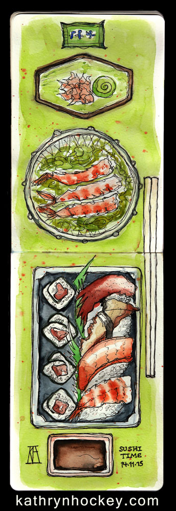 Sushi-Time-14.11.15--kathryn-hockey-artist-illustrator-web