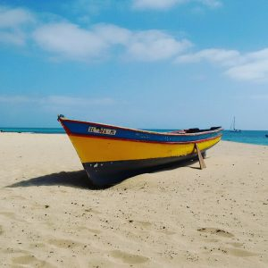santa maria, sal, cape verde, cabo verde, fishing boat