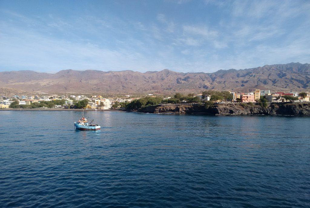 port novo, san antao, cabo verde, cape verde, ferry, port, boat