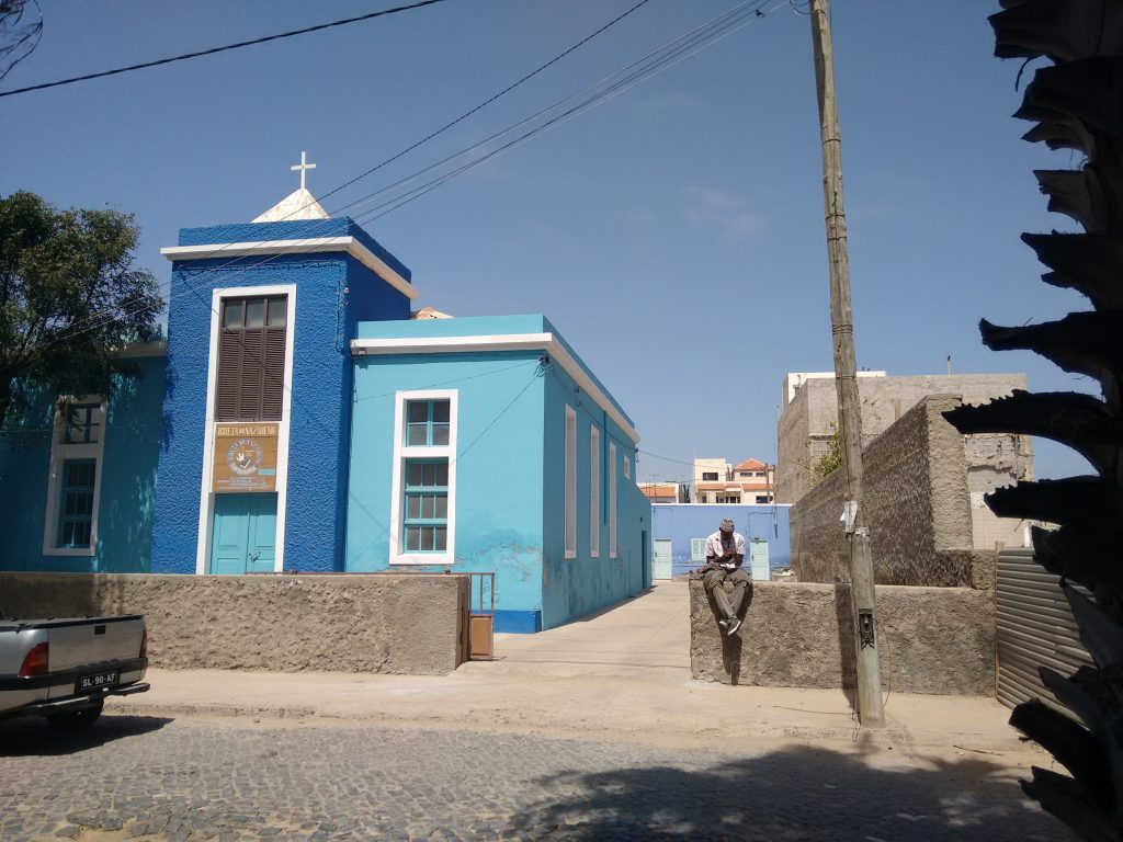 santa maria, sal, cape verde, cabo verde. church
