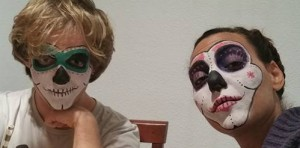 halloween, face painting, skulls, day of the dead