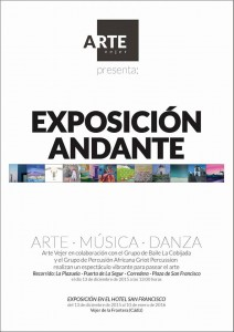 exhibition, poster, mobile exhibition, vejer, arte vejer, art, community art group, art promotion, visual arts