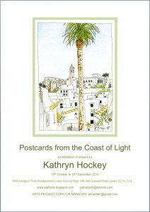 Postcards, Coast of Light, art exhibition, NHS Islington Trust Headquarters