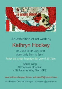 I'd Rather Be Swimming, South Wing St Pancras Hospital, art exhibition