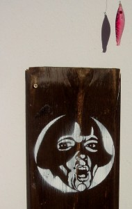 Stencil art, spray paint, wood, street art