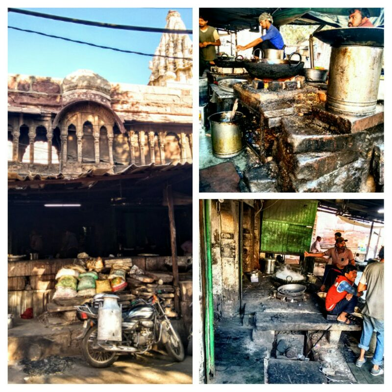ancient, communal, kitchen, jodhpur, market, rajasthan, india