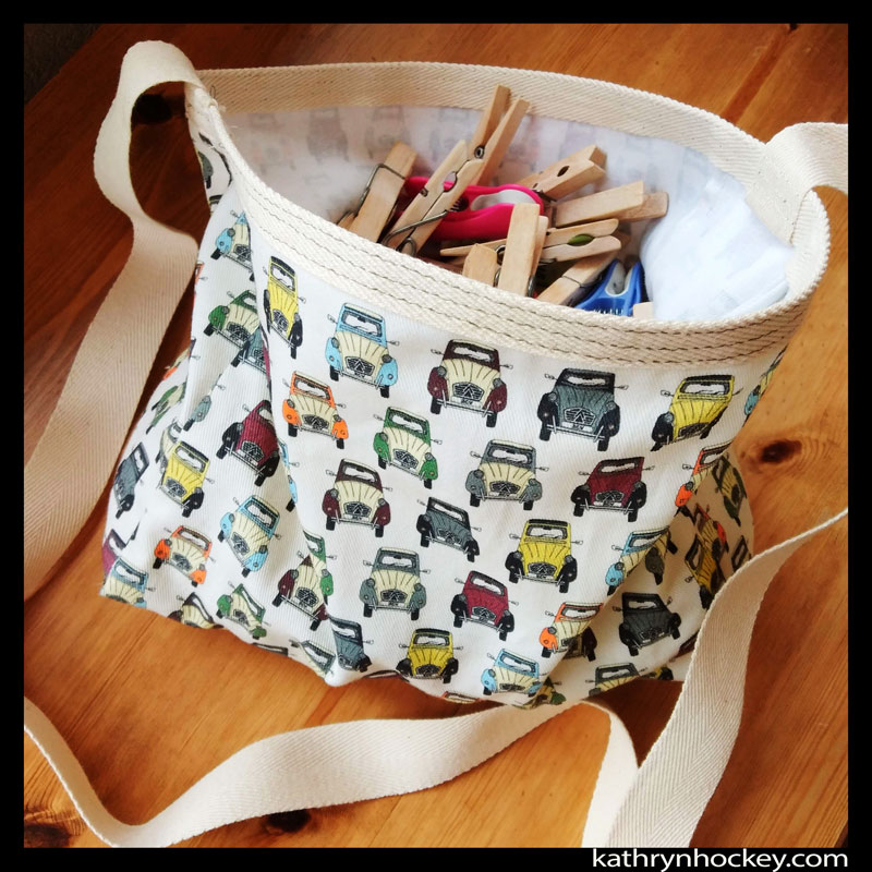 peg bag, bag, home made, craft, digital printing, pattern, 2CV, fabric, textile design, home sewing, needle work, home made, car, textile, material, surface illustration, illustration