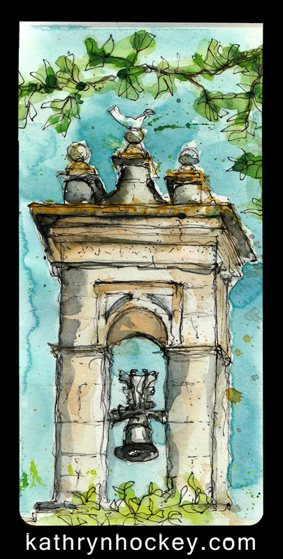drawing, water colour, sketch, pen and watercolour, vejer sketchers, jerez, xerez sketchers, alcazar de jerez