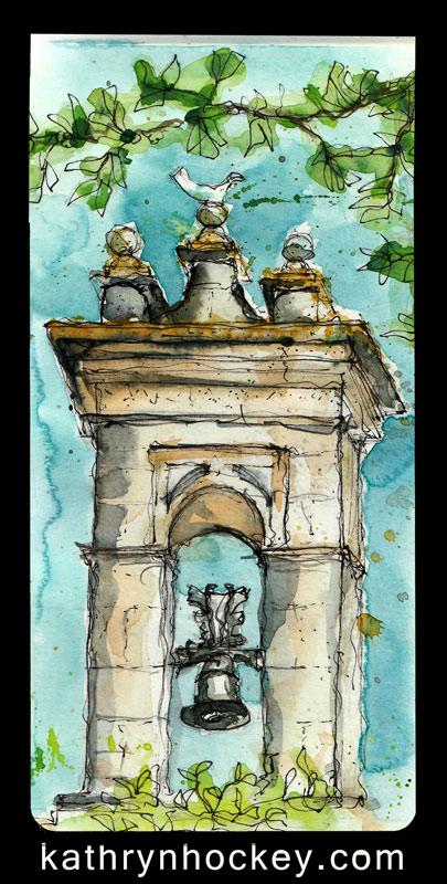 drawing, water colour, sketch, pen and watercolour, vejer sketchers, jerez, xerez sketchers, alcazar de jerez