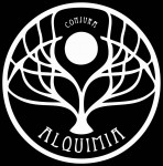 alqumia, logo, graphic design, full moon, gran baba, costa de la luz, el palmar, fine dining, tasting menu, mystery, magic, entertainment