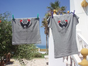 cockerel, t-shirts, screen printing
