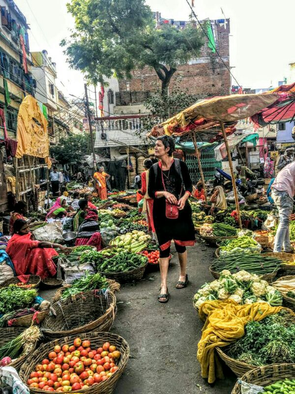 vegetables, guided walk, udaipur, market, rajasthan, India