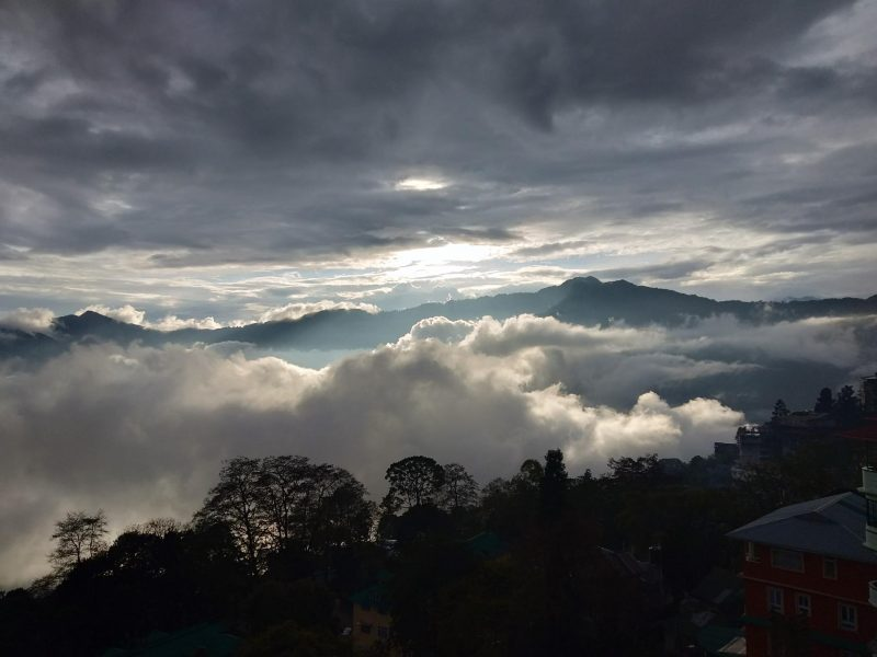 gangtok, sikkim, sky, clouds, mountains