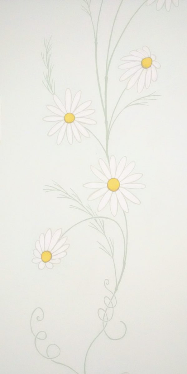 flowers, chamomile, wall art, mural, painting, illustration, decoration, surface, arch, art