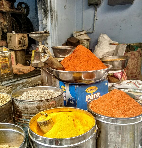 spices, rama, guided walk, udaipur, market, rajasthan, India