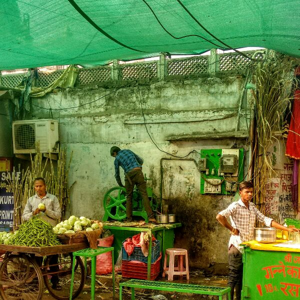 sugar cane juice, rama, guided walk, udaipur, market, rajasthan, india