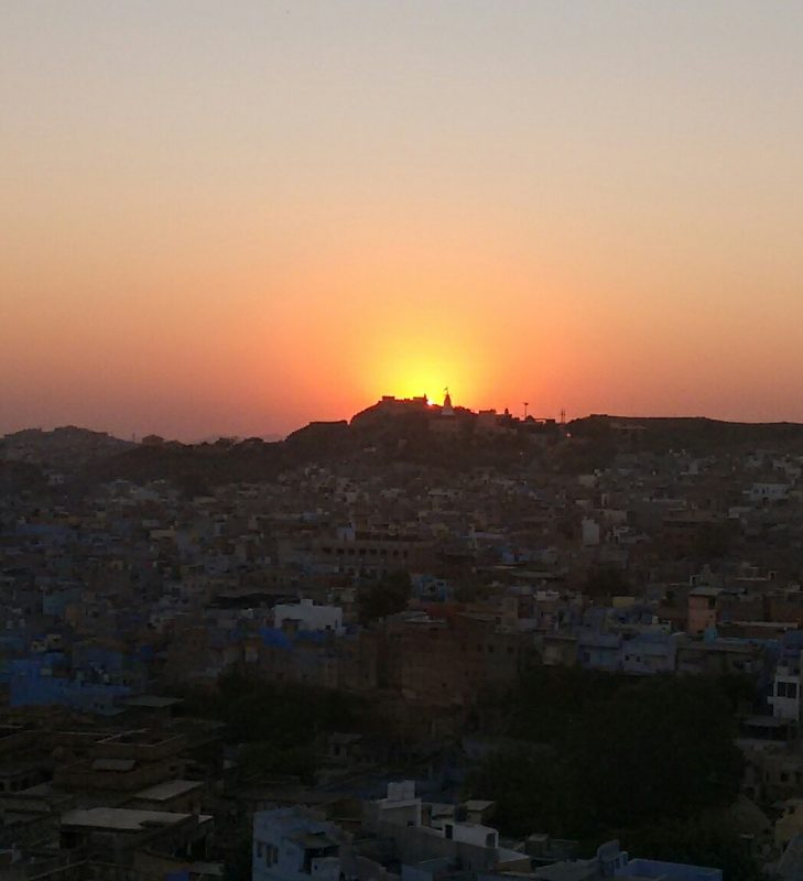 jodhpur, rajasthan, india, travel blog, sunset