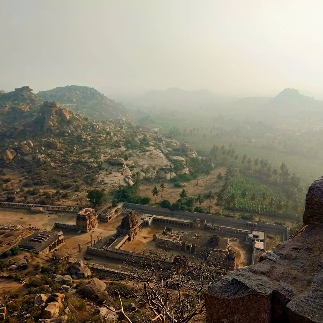 hampi, climb, mountain, ruins, temples, rocks
