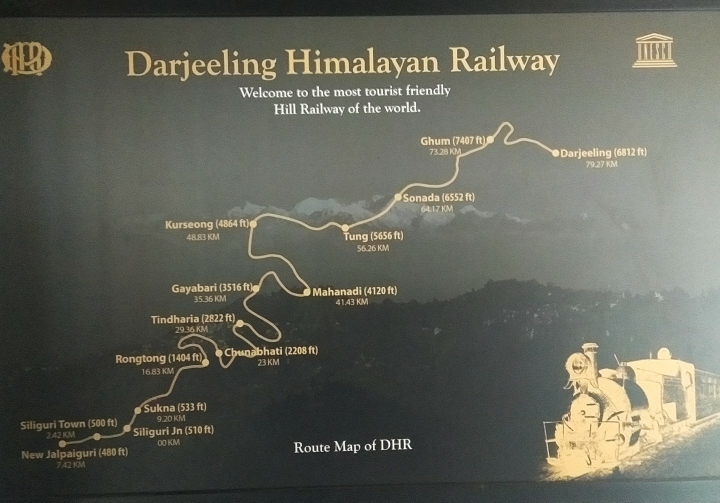 darjeeling himalayan railway, toy train, heritage railway, indian railway, route map