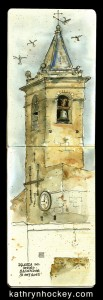 andalucia, Vejer de la Frontera, pen and wash, pen and watercolour, pen and watercolor, sketch, vejer sketchers, urban sketchers, drawing, iglesia divino salvador
