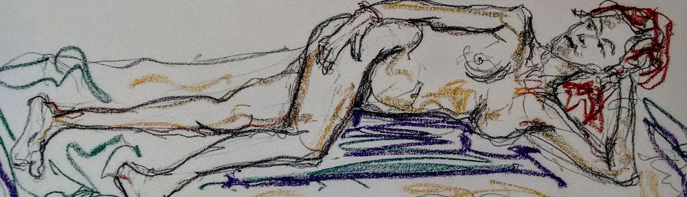 life drawing, model, sketching, vejer sketchers, charcoal, pastel