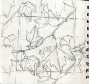 Plane-tree-pattern-sketch2kathryn-hockey-artist-illustrator-web