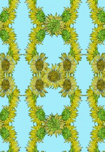 Sunflower-blue-kathryn-hockey-artist-illustrator-web