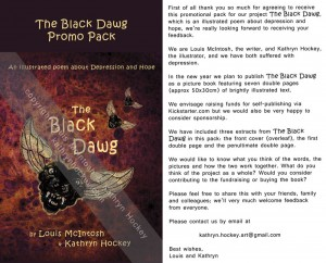 the black dawg, illustrated poem, depression, hope, louis mcintosh, poet, illustration, digital collage, promotional pack, kickstarter,