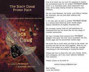 the black dawg, illustrated poem, depression, hope, louis mcintosh, poet, illustration, digital collage, promotional pack, kickstarter,