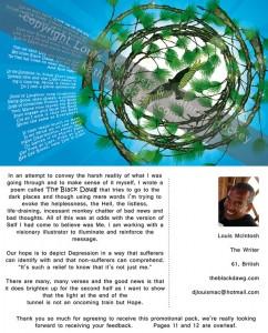 mental health, the black dawg, illustrated poem, depression, hope, louis mcintosh, poet, illustration, digital collage, promotional pack, kickstarter,