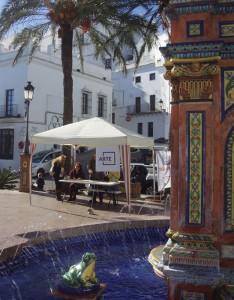 plaza de espana, painting, art, competition, young, artist, vejer, arte vejer, vejer de la frontera, concurso, pintura