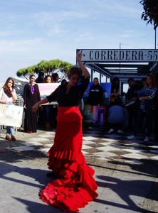 corredera, exhibition, hotel convento san francisco, mobile exhibition, vejer, arte vejer, art, community art group, art promotion, visual arts, drummers, parade, flamenco dancers