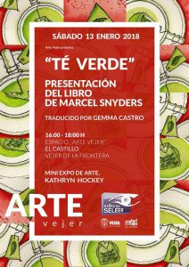 te verde, green tea, play, marcel snyders, arte vejer, exhibition, vejer de la frontera, castle, illustration, book cover, watercolour, pen and watercolour, art, drawing, painting, poster