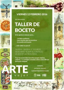 arte vejer, sketch, workshop, drawing, castle, vejer de la frontera, art