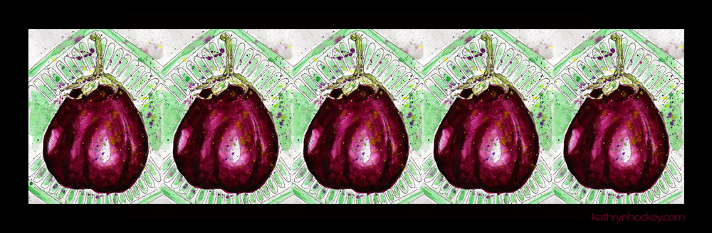 berenjena, aubergine, eggplant, vegetable, food, drawing, water colour, sketch, pen and watercolour, watercolor, illustration