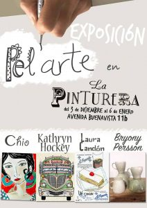 art exhibition, group show, la pinturera, hairdressing salon, paintings, jewelry, ceramics, vejer, vejer de la frontera