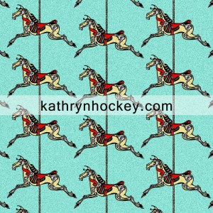 skeleton, horse, halloween, day of the dead, roundabout, repeat pattern, illustration, surface design,