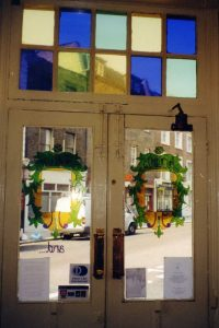 honest cabbage, restaurant, window painting, bermondsey street, london, illustration, decoration