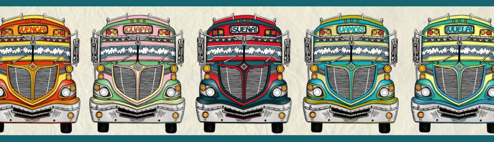 chicken bus, illustration, pencil, drawing, digital illustration, venga, guapa, sonar, vamos, vuela