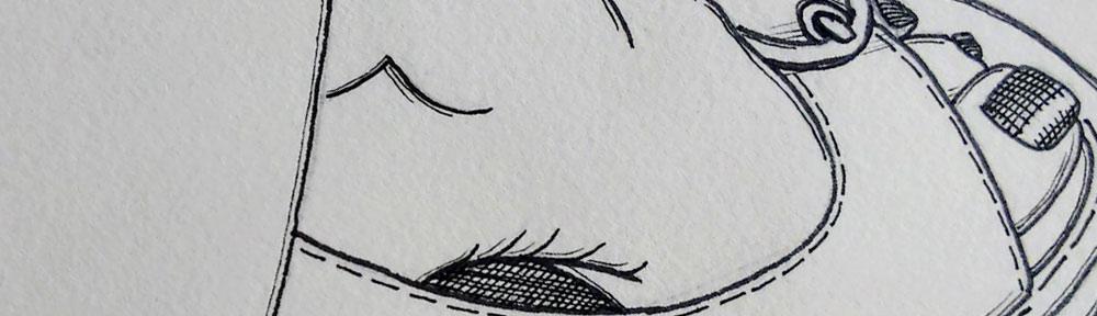 self portrait, foot, toes, sandal, leg, chair, waiting, pen, outline, line work, drawing, sketch, illustration
