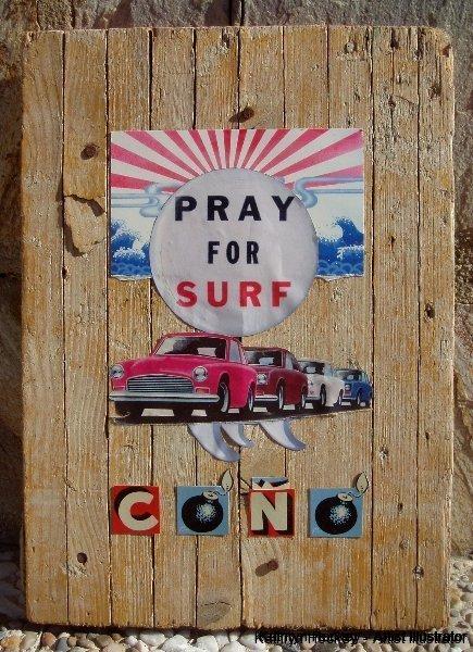 pray for surf-kathryn hockey artist illustrator