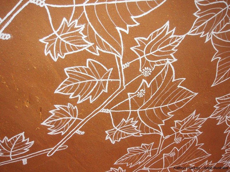 leaves-mural-detail1-kathryn-hockey-artist-illustrator-web