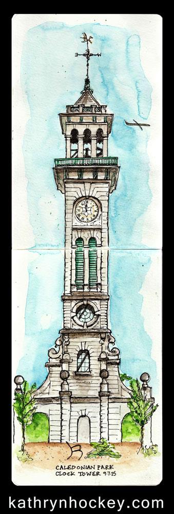 Cally-Park-Clock-Tower-kathryn-hockey-artist-illustrator-web